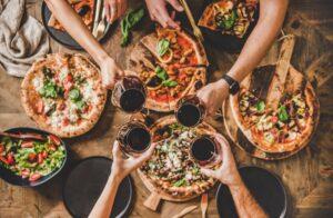 vinho e pizza